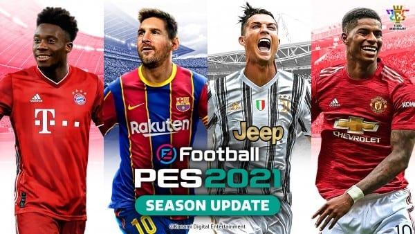 KONAMI dévoile la couverture d'eFootball PES 2021 SEASON UPDATE