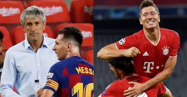 Ldc/Barça-Bayern : Setién, « Lewandowski N'est Pas À La Hauteur De Messi »