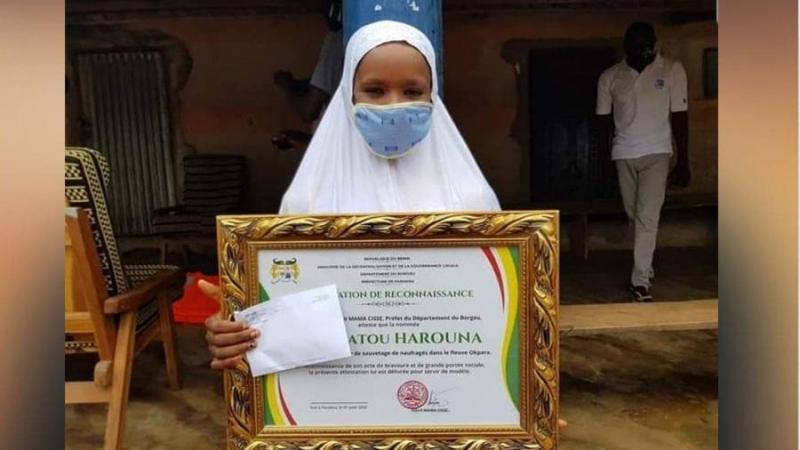 Bénin : Sakina Harouna récompensé par la Présidence pour avoir sauvé des vies