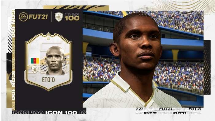 Samuel Eto'o parmi les légendes FIFA Ultimate Team 21