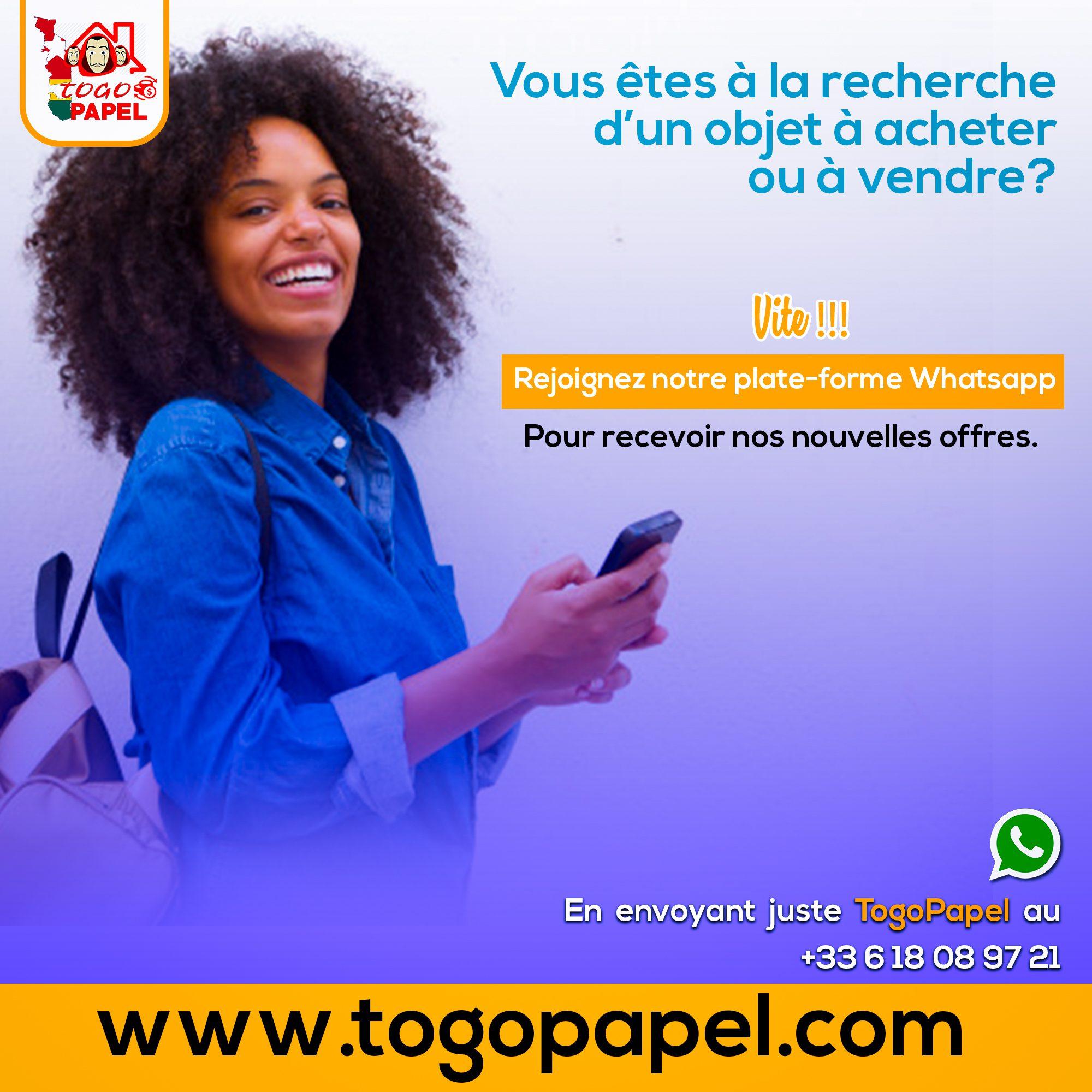 Togopapel.com est la plateforme de petites annonces par excellence au Togo.