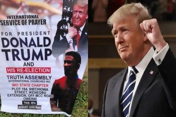 Un pasteur organise une prière spéciale pour la réélection de Donald Trump