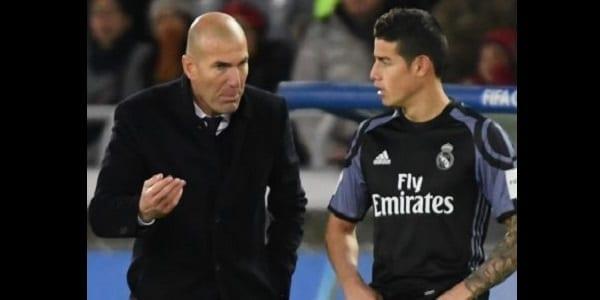 Réal Madrid: Zidane très en colère contre James Rodriguez