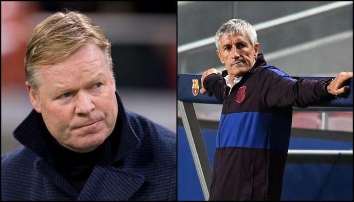 Barça : Ronald Koeman n'a pas le droit de s'asseoir sur le banc de touche à cause de Quiqué Setien