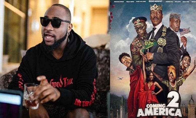 "Davido figurera dans le film hollywoodien ""Un prince à New-York 2"""
