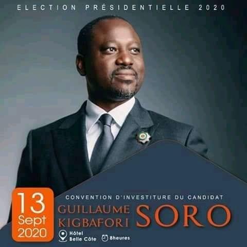 Présidentielle: Guillaume Soro sera investi candidat ce 13 septembre