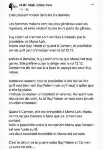 Carmen Sama et Suy Fatem, accusées de prostitution