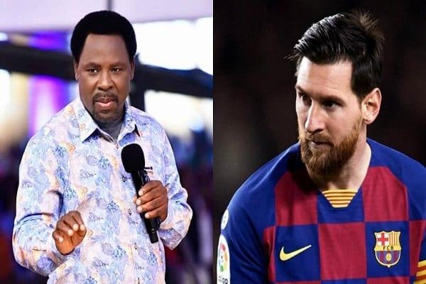 Départ de Lionel Messi : le conseil du prophète TB Joshua à l'Argentin