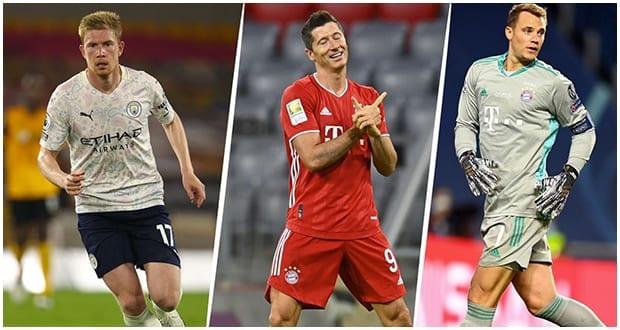 Meilleur joueur UEFA 2019/20 : De Bruyne, Neuer et… sur le podium, Messi, 4e