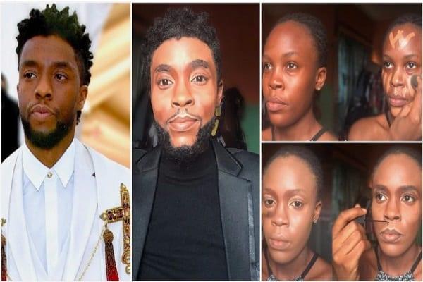 Nigeria : une artiste se transforme en Chadwick Boseman