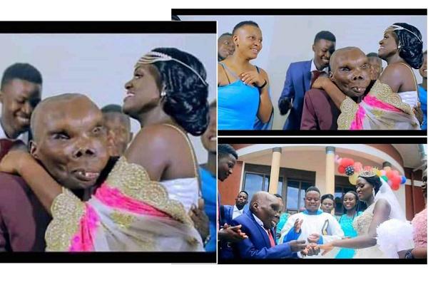 """Ouganda : l'homme """"le plus laid"""" épouse sa 3e femme en grande pompe (photos)"""