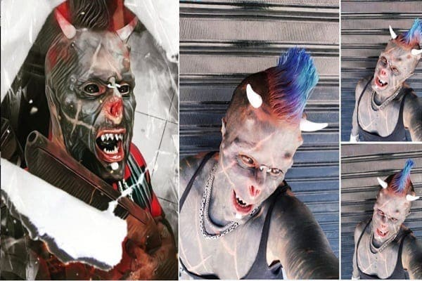 « Satan humain » : après le nez coupé, il se fait implanter des cornes sur la tête (photos)
