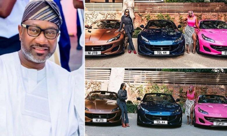Un milliardaire nigérian offre 3 Ferrari à ses trois filles (photos)
