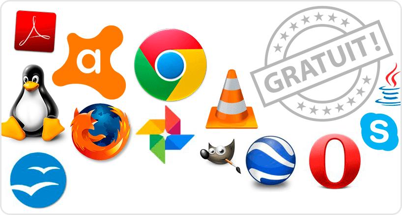 Les logiciels et leurs versions gratuites