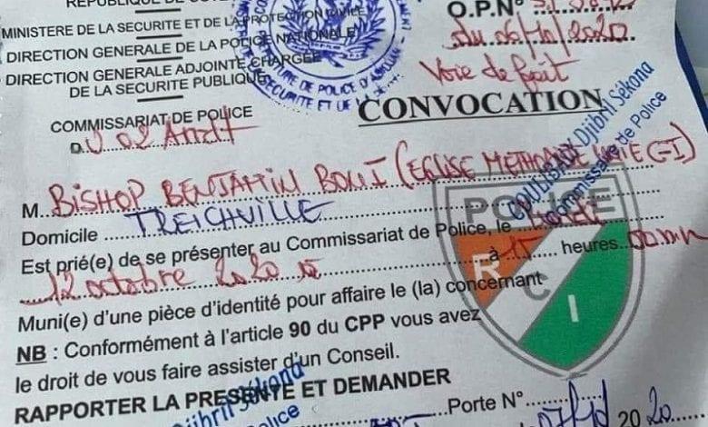 Affaire Bishop Benjamin Boni convoqué pour une chanson : la police apporte des précisions