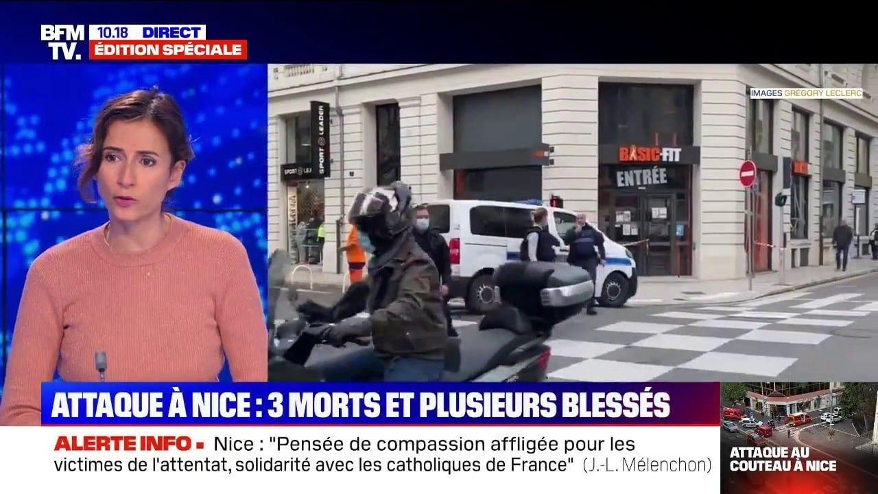 Attentat à Nice : trois morts, le parquet antiterroriste saisi et Emmanuel Macron attendu sur place, ce que l'on sait à 10h30