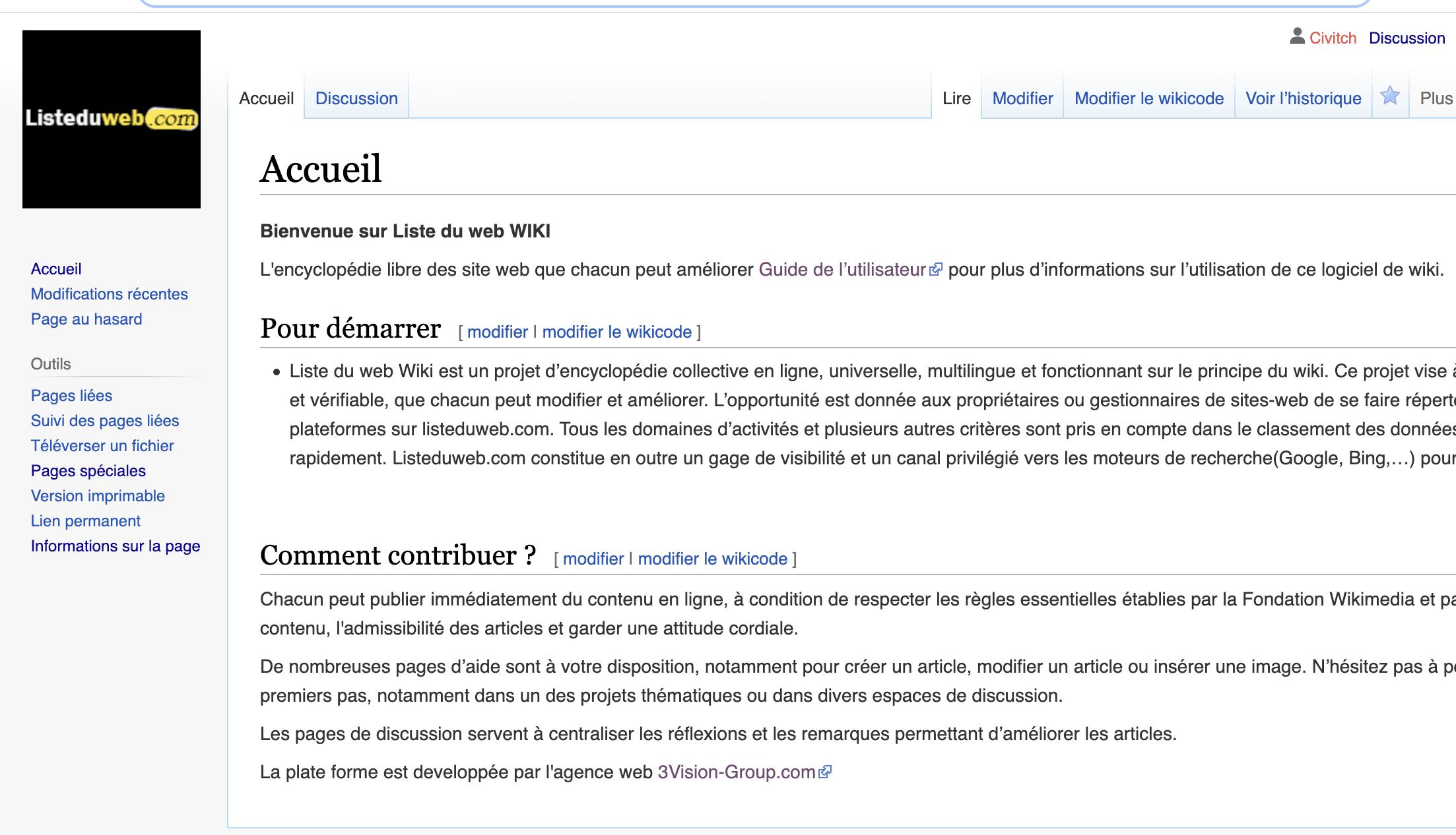 Wiki Listeduweb , le nouveau wikipedia