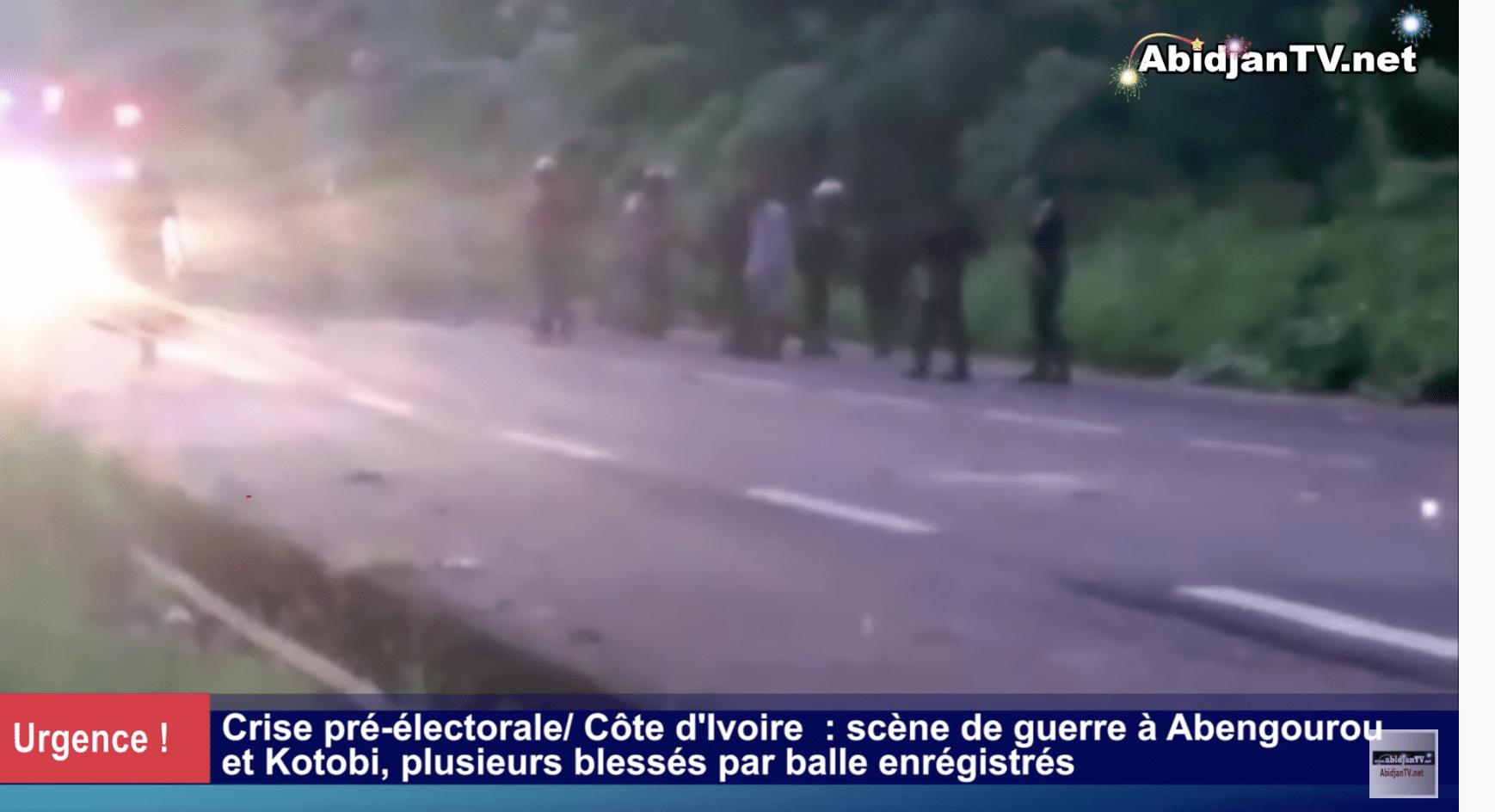 Côte d'Ivoire : scène de guerre à Abengourou et Kotobi, plusieurs blessés par balle enregistrés
