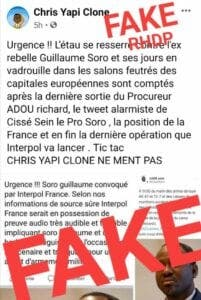 Guillaume Soro convoqué par Interpol France ?