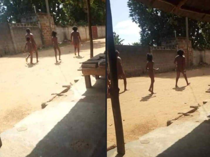 Bénin : un couple marche nu dans les rues ( image)