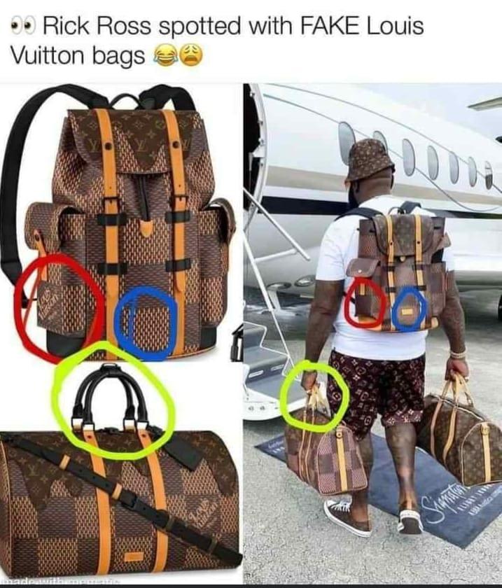 Rick Ross moqué à cause de ses faux sacs Louis Vuitton