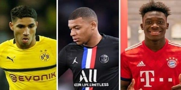 Top 12 des joueurs les plus rapides du monde selon l'UEFA : Hakimi 4e, Alphonso Davis 5e