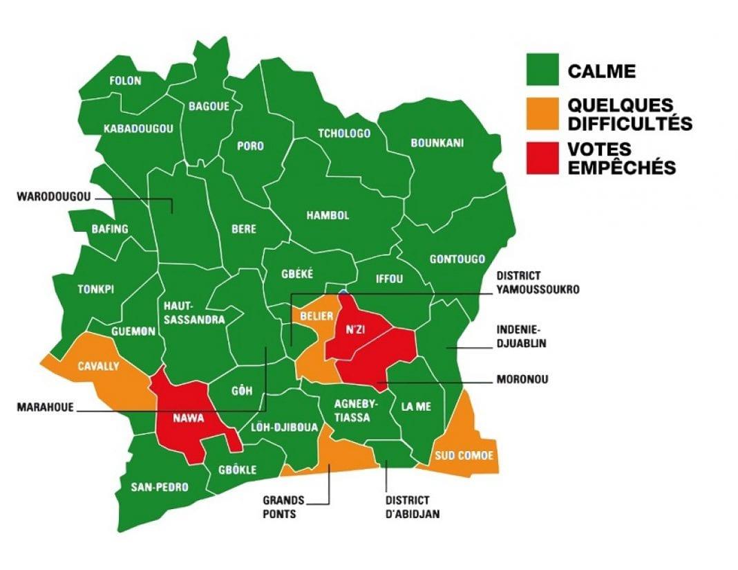 Vote en Côte d'Ivoire : le point dans les différentes régions