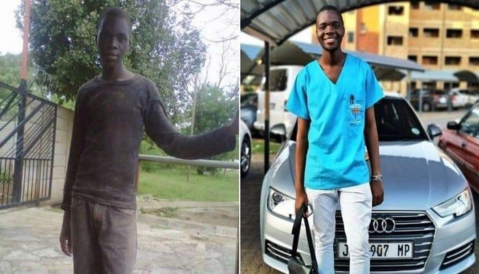 Après s'être battu pour financer ses études, il réussit dans la vie et dévoile sa nouvelle voiture