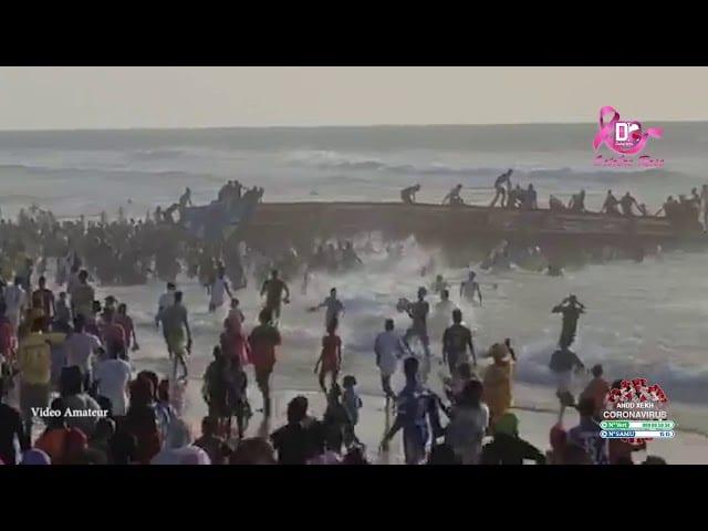 Sénégal : Une pirogue de migrants échoue et fait 2 morts (Vidéo)