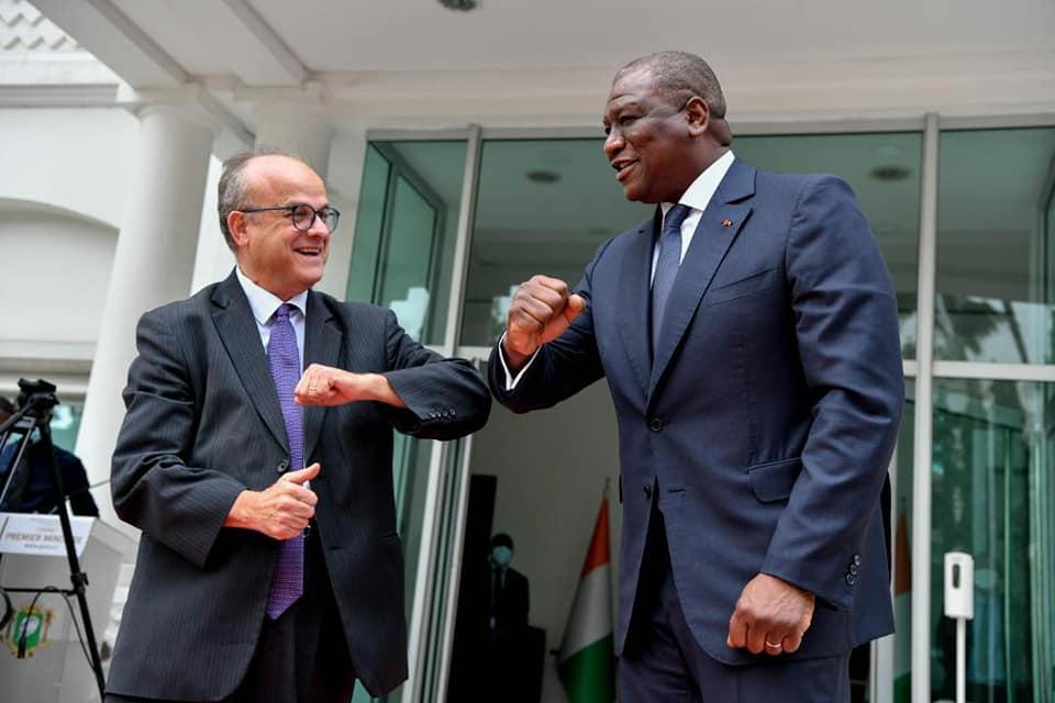 Côte d'ivoire : Hamed Bakayoko rencontre le nouvel ambassadeur de France