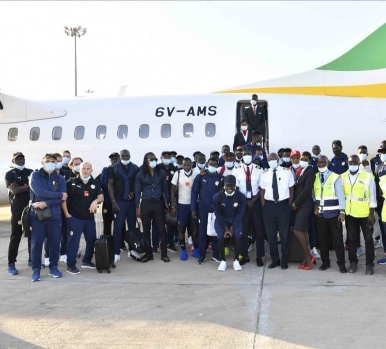 Elim CAN 2022 : Les Lions sont arrivés en Guinée Bissau (Photos)