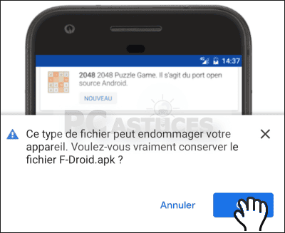 Installer un autre magasin d'applications – Android