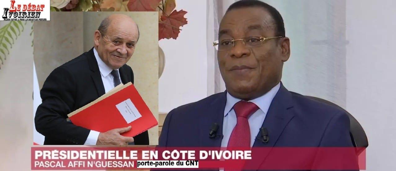 Affi N'Guessan à Jean-Yves Le Drian : » la constitution ivoirienne interdit également un troisième mandat»