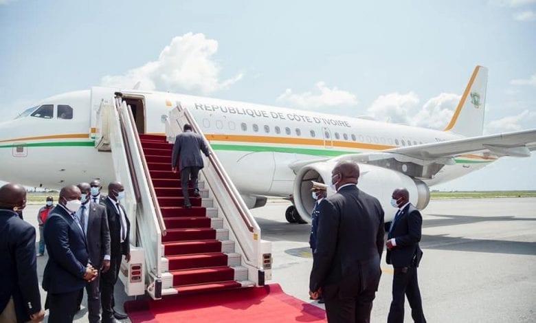 Alassane Ouattara quitte Abidjan pour la France sans raison