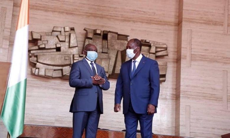 """Après son audience avec Ouattara, KKB : """"Le temps de la paix a sonné""""."""
