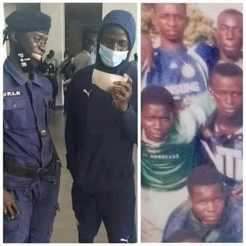 Sadio Mané retrouve un ami d'enfance devenu policier et souhaite l'inviter à Liverpool