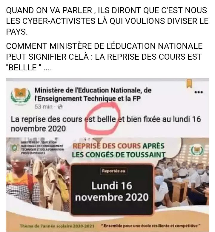 Chris Yapi révèle une grosse faute de français du ministère de l'éducation nationale