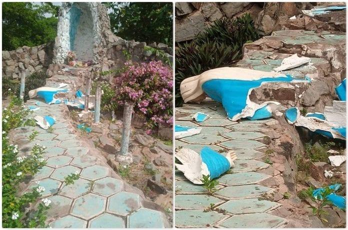 Côte d'Ivoire/M'Batto : la grotte de la vierge Marie détruite à Assaouffoué par des individus non identifiés !