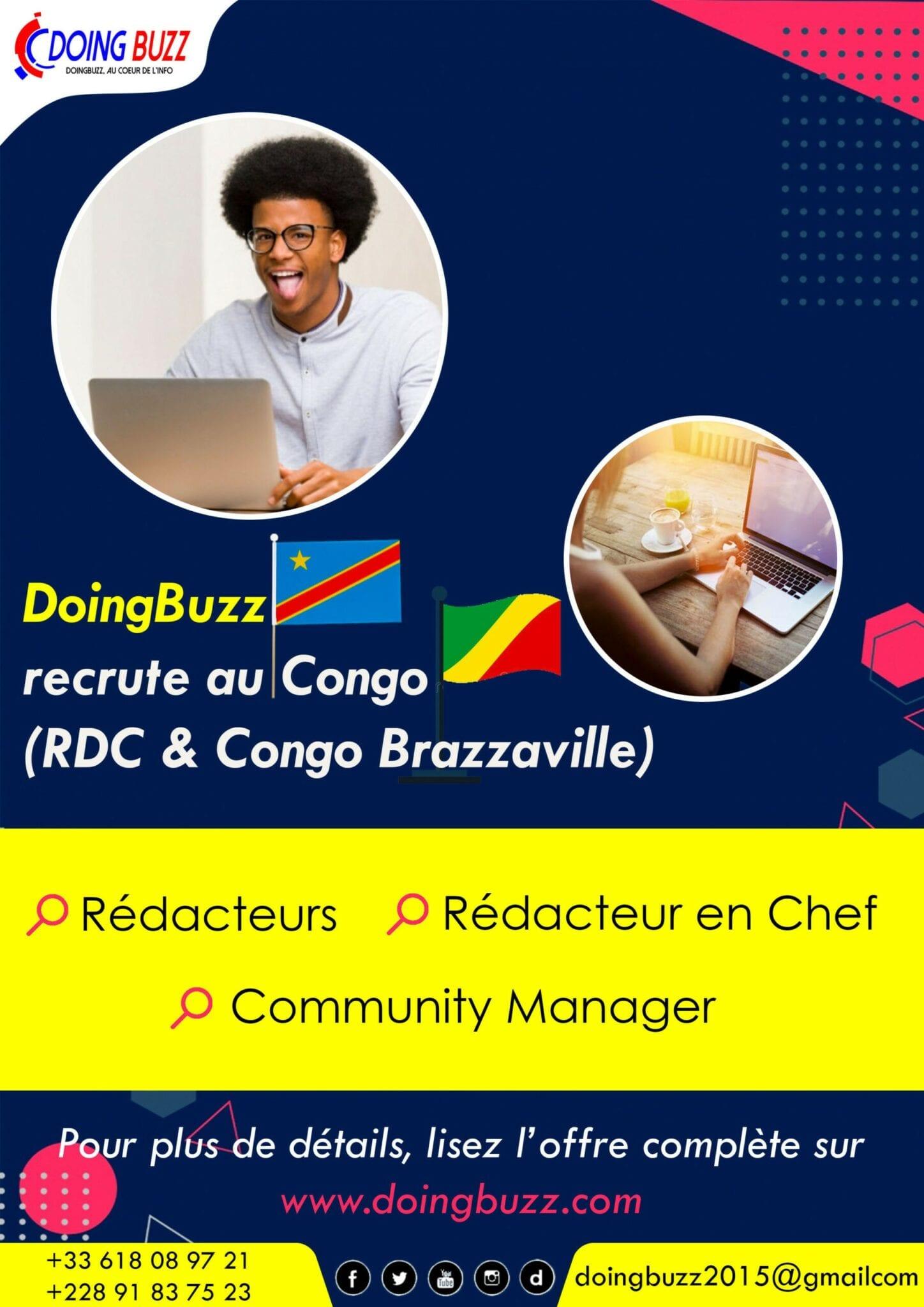 Doingbuzz.com recrute pour plusieurs postes au Congo