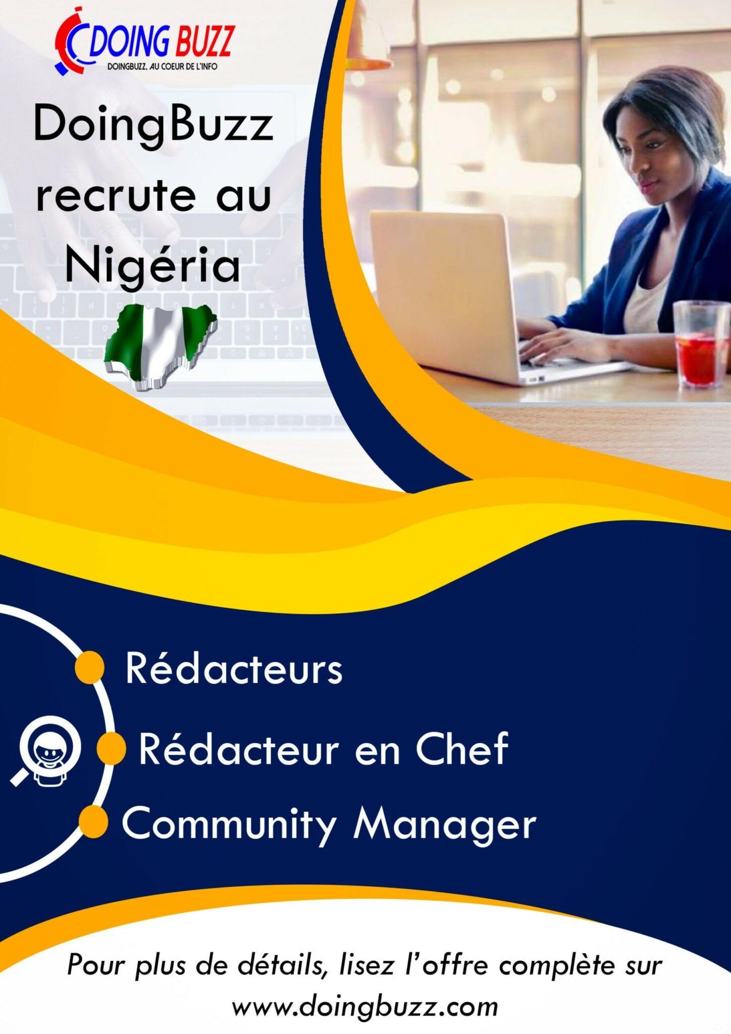 Doingbuzz.com recrute pour plusieurs postes au Nigéria
