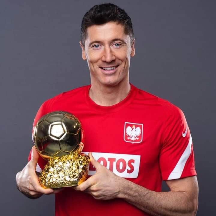 Robert Lewandowski honoré par les supporters polonais