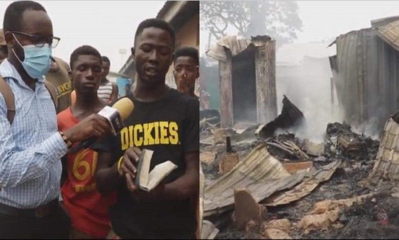 Ghana: une Bible retrouvée intacte dans un magasin rasé par le feu-Vidéo
