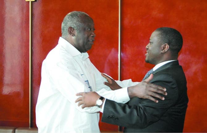 Guillaume Soro applaudit Laurent Gbagbo