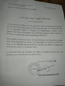 Au Togo, les candidats au BTS ne paieront plus de frais d'inscription