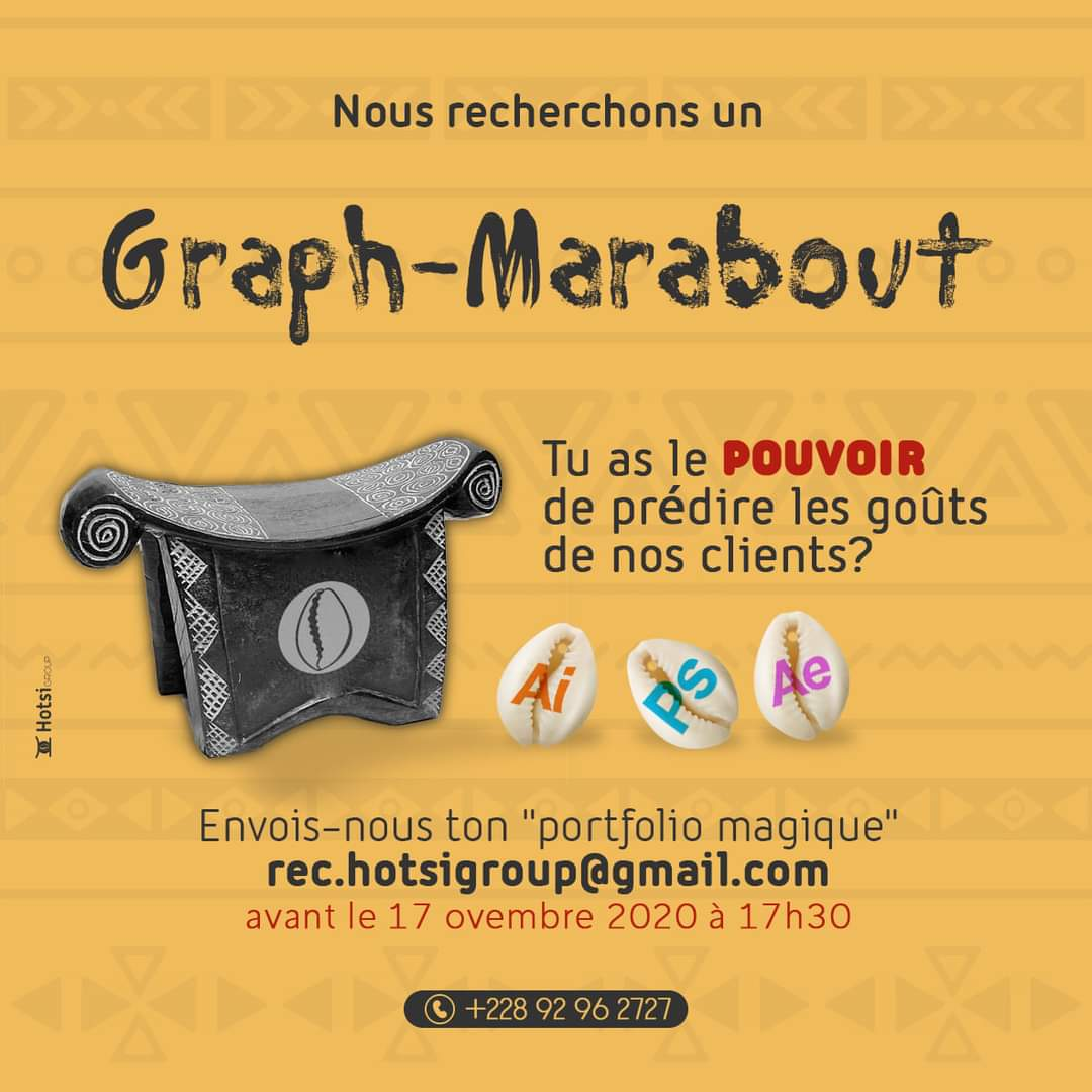 Togo : HOTSI-GROUP recrute un graph-marabout