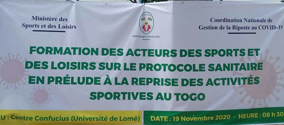 Probable reprise des activités sportives au Togo.