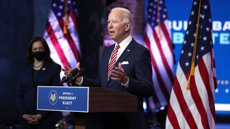 Le président élu Biden réprimande Donald Trump