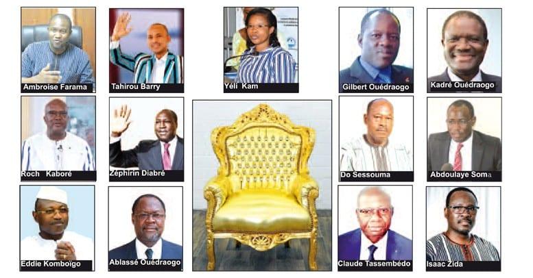 Présidentielle burkinabè le 22 novembre 2020 : 13 candidats à l'assaut du palais de Kossyam