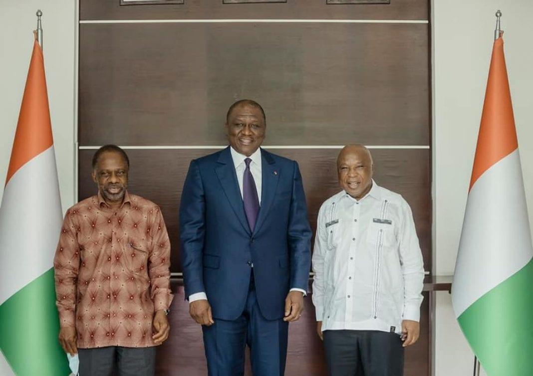 Rencontre Hamed Bakayoko Assoa Adou et Danon Djédjé : en images