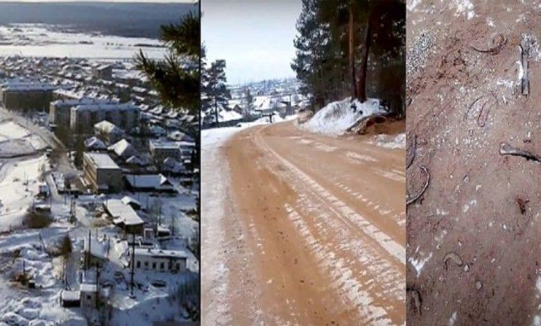 Une route remplie de crânes et d'os découverte en Sibérie